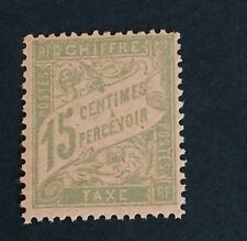 France Taxe N°30 15 C Vert Neuf ** TB Qualité Choix Cote 90€