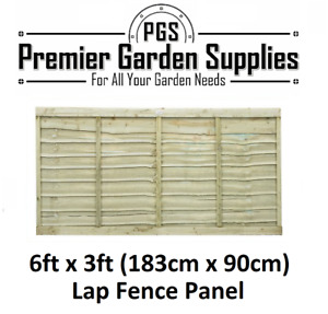 Brand New Premier 6 ft x 3ft Larch Lap Fence Panel Garden Wooden Fencing RRP £27