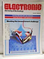 Electronic Servicing & Technology Magazine August 1985 Servicing E30 Series TVs