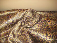 """Mini Leopard Cheetah Faux Suede Microfiber Upholstery Fabric 58"""" W BTY"""