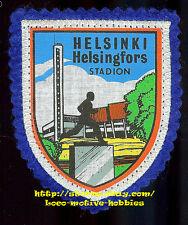 LMH PATCH Woven Badge HELSINKI HEISINGFORS Olympic Stadium Stadion Olympics Felt