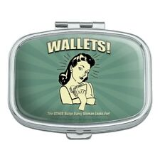 Wallets Other Bulge Woman Looks For Rectangle Pill Case Box