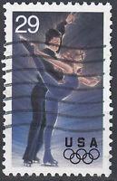 USA Briefmarke gestempelt 29c Olympia Sport Eiskunstlauf Eistanz / 1626