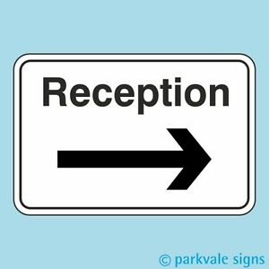 Reception Sign (Arrow Right)