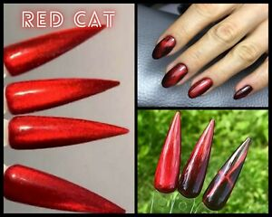 9D Red Cat Eye Gel Polish Saga Magnetic Nail Polish Red Polish Nail Art