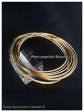 Lot Bracelets 12 Joncs Entrelacés Plaqué Or 18 Carats  6,6 CM Bijoux Femme