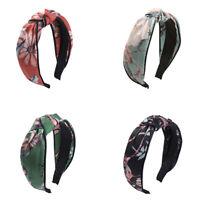 Women's Fabric Hairband Twist Knot Headband Tie Cross Hair Hoop Band Accessories