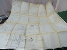 VINTAGE MODEL PLANS FOR A THORNEYCROFT AIR - SEA RESCUE LAUNCH