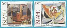 Island aus 1997 ** postfrisch MiNr.864-865 - Gemälde!