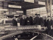 Général de Gaulle Aviation Salon France Photographie Vintage Argentique