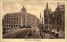 Amsterdam Holland ~1920 Leidscheplein Straßenpartie Tram Straßenbahn Kutschen
