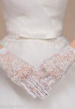 Braut Handschuhe Hochzeit Abend Party Blumen weiß