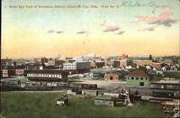 Oklahoma City OK Birdseye View Showing RR Train Station c1910 Postcard