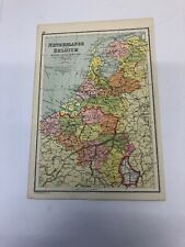 Antique 1930 Map: Netherlands & Belgium With Luxembourg  Luxemburg 90 Years Old