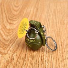 EDC Cool Novelty Mini Grenade Refillable Butane Gas Cigarette Lighter Keychain