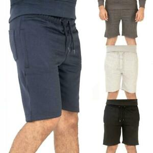 Mens Fleece Shorts Gym Elasticated Waist Jogger Running Short