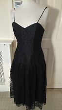 STUNNING VINTAGE 80s CORSET GOTH STYLE LACE UP,SEXY VERY LOW BACK PARTY DRESS