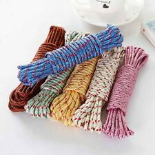 10m Strong Nylon 6mm Braided Cord Poly Rope Washing Clothes Line Pulley Rop Top
