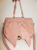 Valentino Red Italy Pink Leather Bow Large 2way Shoulder Crossbody Bag