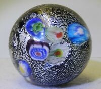 8003m Beautiful Handmade Contemporary Millifiori Marble With Mica Signed JZ