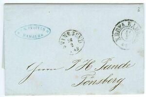 DENMARK/NORWAY: Unpaid cover Hamburg to Norway 1862. (4)