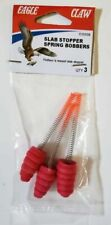 NEW Eagle Claw Fishing Slab Stopper Spring Bobbers Red Bobblers ICSSSB 3 Pack