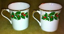 Rosina Queens England YULETIDE Two Mugs