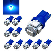 10 Pcs T10 Blue 5050 5SMD LED Wedge Car Light Bulb 194 168 W5W 12V TO