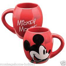 89063 Walt Disney Classic Mickey Mouse Red 18oz Oval Cup Mug Coffee Tea Kitchen