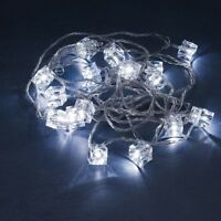 2.5m White LED Ice Cube Christmas Tree Lights Xmas Decoration Fairy String Light
