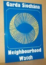 Garda Siochana Neighbourhood Watch vinyl sticker.
