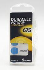 60 x Duracell Hörgerätebatterie easytab Typ 675 - PR44 - 10x6er Blister