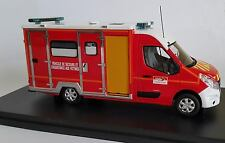 Camion Pompiers RENAULT MASTER 3 CAISSON VSAV 33 Gironde 1/43 ALERTE