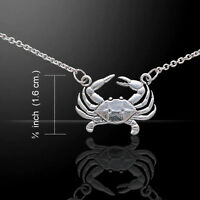 Crab Necklace .925 Sterling Silver by Peter Stone Jewelry