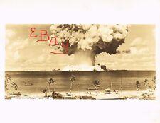 WWII AMAZING 8X10 PHOTO 7.24.1946 BIKINI ATOLL BAKER ATOMIC BOMB TEST VIEW #1