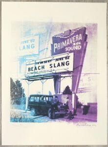 2016 Beach Slang - Barcelona Silkscreen Concert Poster S/N by Andy Vastagh