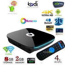 8GB 2GB 4K UHD WIFI K 17.3 Android 6.0 Smart TV BOX Quad Core S905X 2017 NEW