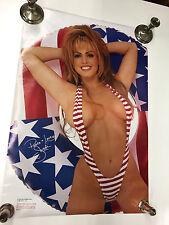 Rare Vintage POSTER Sandi Sandra Taylor Sexy Penthouse Pet Swimsuit Model #3084