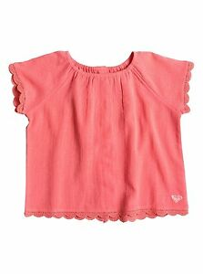 Roxy Kids This Modern Love Short Sleeve Sugar Coral Top Sz 5 ERLWT03010