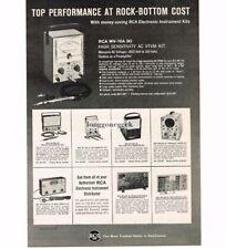 1963 RCA Vacuum Tube Volt Meter WV-76A High Sensitivity AC VTVM Vtg Print Ad