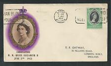 NIGERIA # 79 QUEEN ELIZABETH II, ROYAL CORONATION First Day Cover (1139)