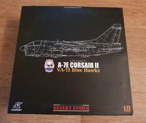 """JC Wings 1/72 USN A-7E Corsair II VA-72 """"Blue Hawks"""" Ltd Edition New Mint"""