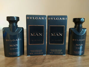 Bvlgari Man in Black 80 ml After Shave Balm  2 x 40 ml