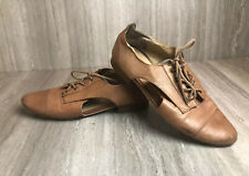 Steve Madden Women's Leather Oxford Brian Shoes Size 9 Cutout Brown Workwear