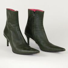 Free Lance Paris Green Olive Leather Boots High Heal_Sz 38 1/2