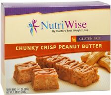 NUTRIWISE - Protein Diet Bars | Fudge & Graham  | 7/Box, Gluten Free, Low Fat