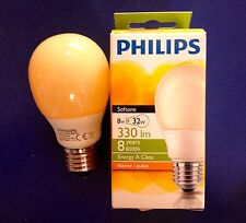 PHILIPS ENERGY Softone FLAME  Sparlampe Bulb E27 8W Terracotta Lampe Birne