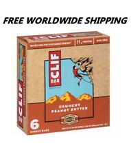 Clif Bar Crunchy Peanut Butter Energy Granola Bars 6 Ct WORLDWIDE SHIPPING