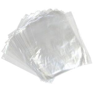 "100 CLEAR PLASTIC POLYTHENE BAGS 8x10"" 120 GAUGE"