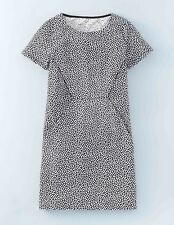 BODEN  New  Casual Seam Detail Tunic Dress - Black/White - UK 12 R